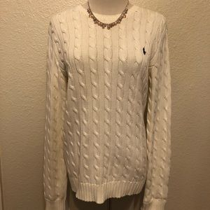 2ac229894 White Knit Ralph Lauren Sport Sweater Size Large